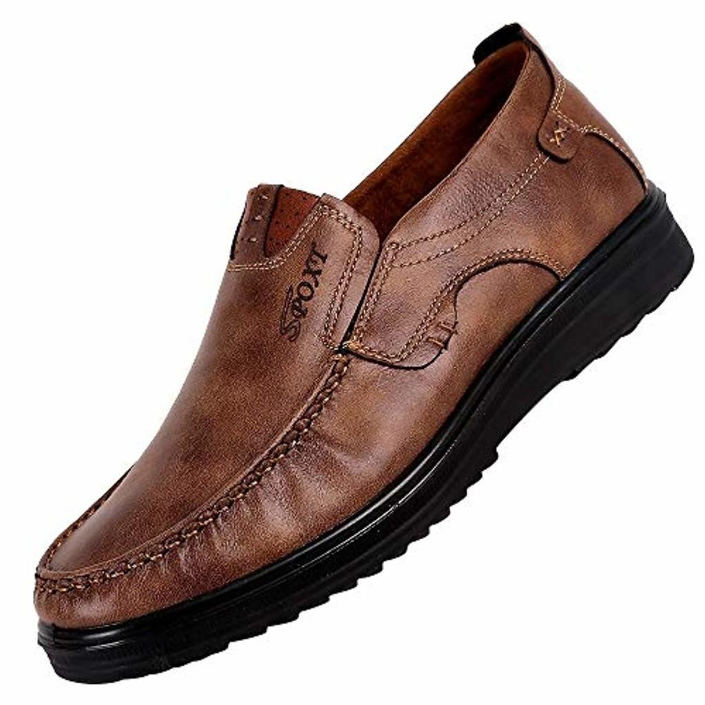 LuckyGirls Mode Nouveau Homme Faux Suede Chaussures en Cuir Oxfords Printemps Automne Oxford Chaussures Chaussons Style Mocassins - Faux suède - Homme 40-48 2019