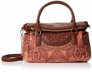 Desigual Bols_winter Valkyrie_loverty, Sac femme, Marron (Leather Brown), 14x24x33 cm (B x H T) 2019