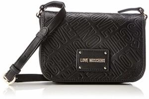 Love Moschino Borsa Embossed Pu Nero, Sacs baguette femme, Noir (Black), 7x14x20 cm (B x H T) 2019