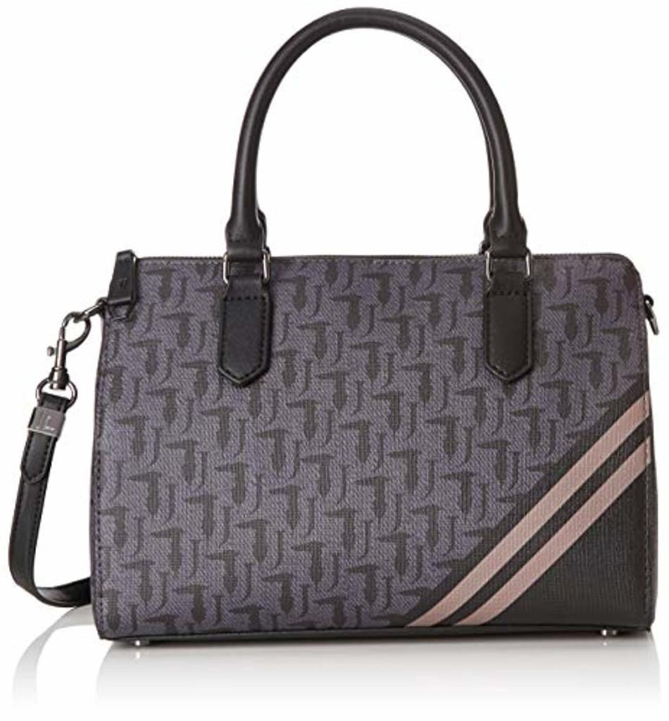 Trussardi Jeans 75B00477-9Y099999, Cartable pour Femme - Noir - Nero (Black Violet), 29x20x12 cm (W x H x L) EU 2019